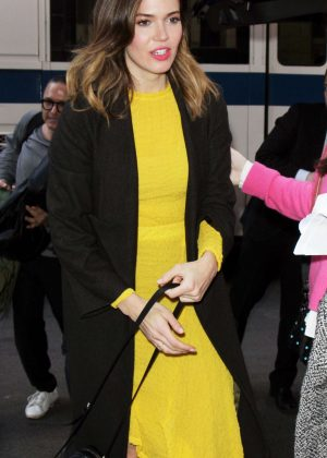 Mandy Moore in Yellow Dress out in New York