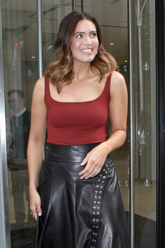 Mandy Moore - Leaves 'The Howard Stern Show' in New York