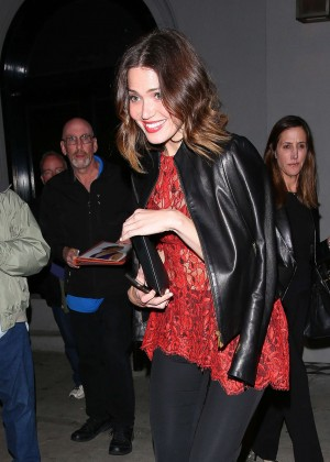 Mandy Moore - Leaving Craig's Restaurant in Hollywood