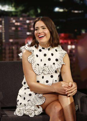 Mandy Moore on Jimmy Kimmel Live Show in LA