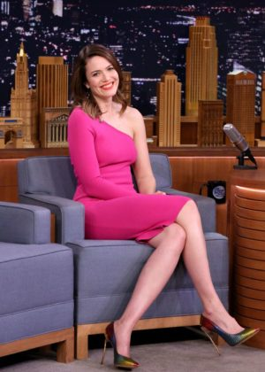 Mandy Moore on 'The Tonight Show Starring Jimmy Fallon' in New York