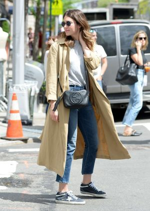 Mandy Moore out for a walk in New York