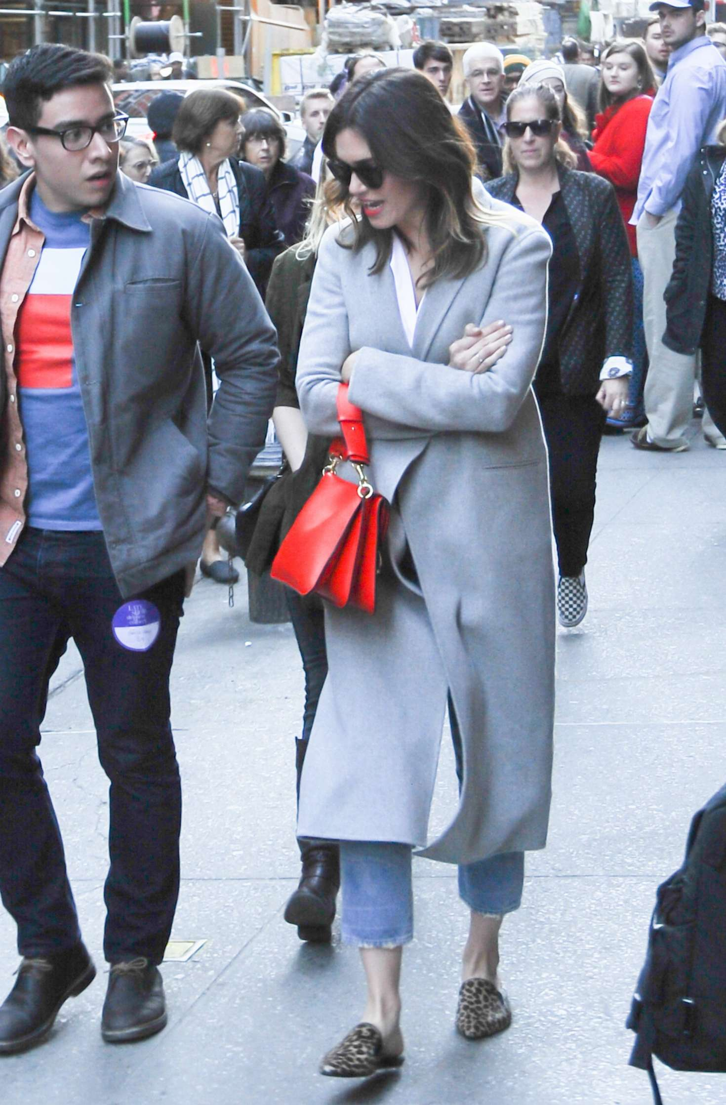 Mandy Moore out in NYC