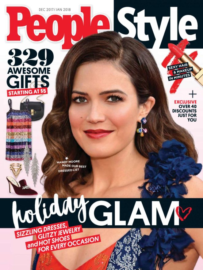 Mandy Moore - PeopleStyle Magazine (December 2017/January 2018)