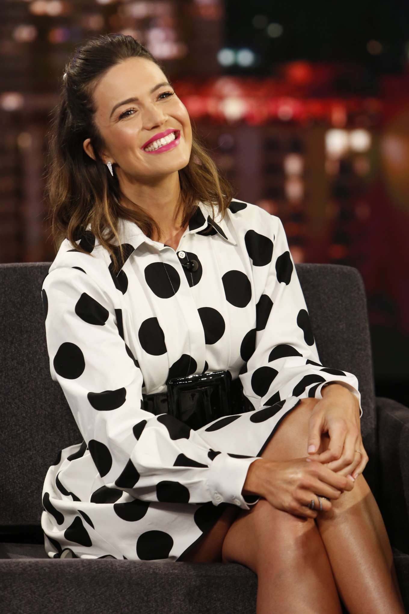 Mandy Moore - Visits Jimmy Kimmel Live! in Hollywood