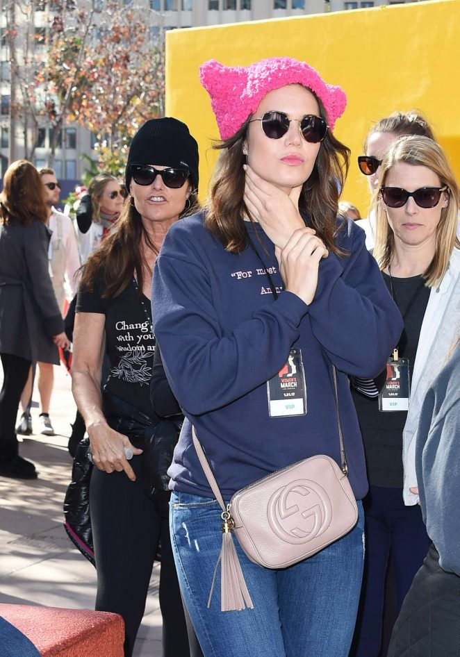 Mandy Moore - Women's March on Los Angeles