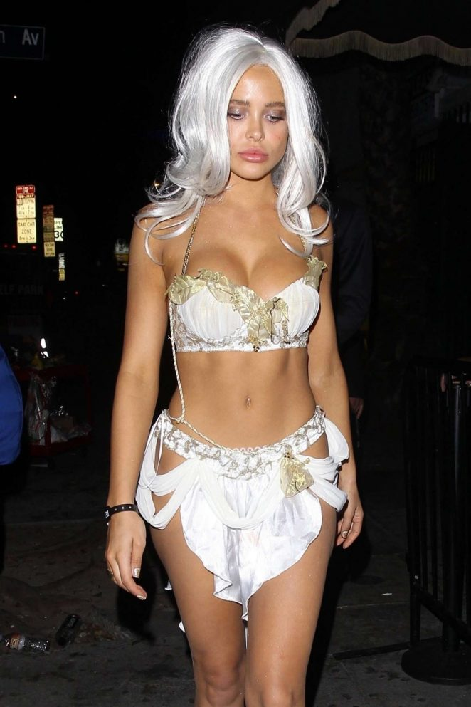 Mara Teigen at Halloween Festivities in Hollywood