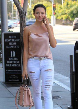 Mara Teigen in Jeans out in Beverly Hills