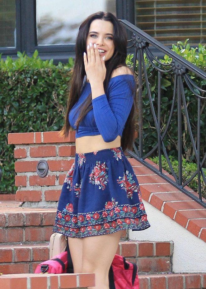 Mara Teigen in Short Skirt out in Los Angeles