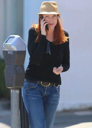 Marcia Cross in Jeans out in Brentwood