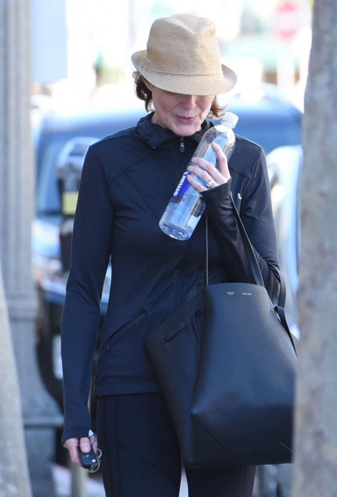 Marcia Cross – Leaving the gym in Beverly Hills