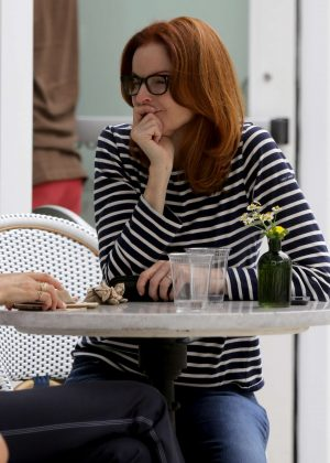 Marcia Cross out for lunch in LA