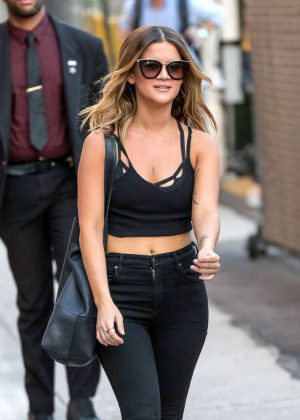 Maren Morris - Arriving at 'Jimmy Kimmel Live' in Hollywood