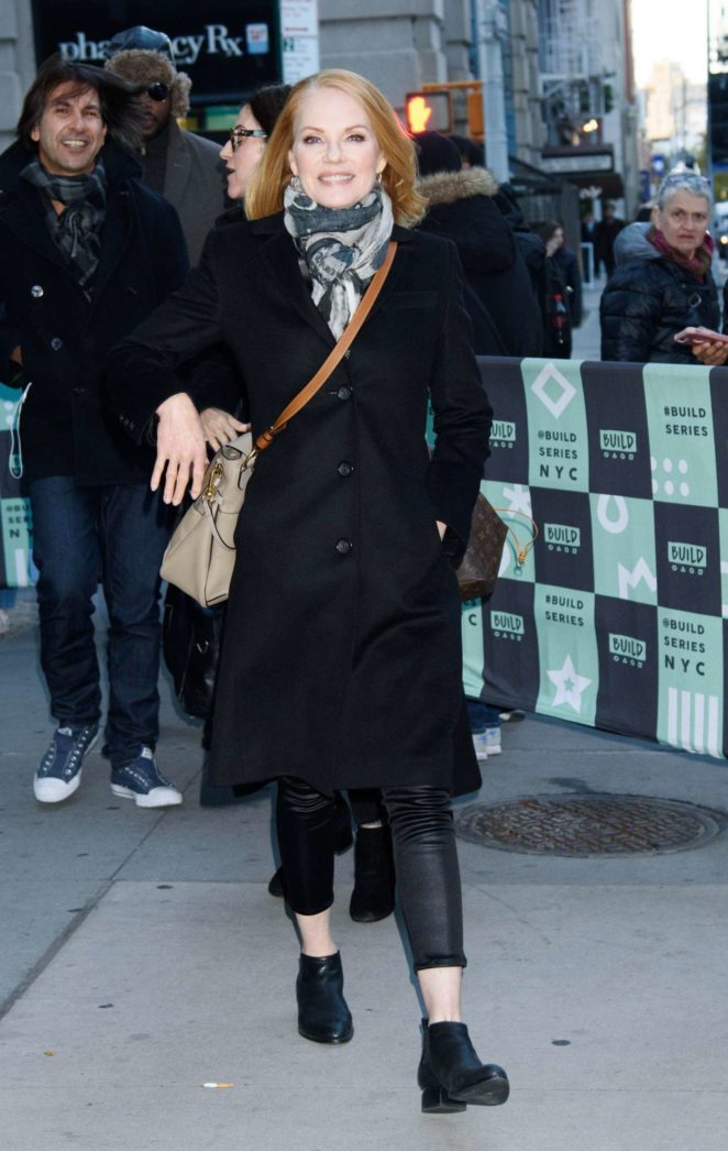 Marg Helgenberger at AOL Build in New York
