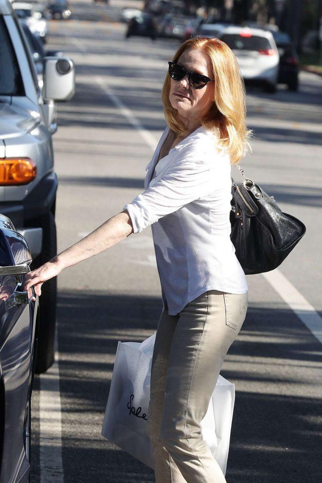 Marg Helgenberger out shopping at Splendid in Santa Monica