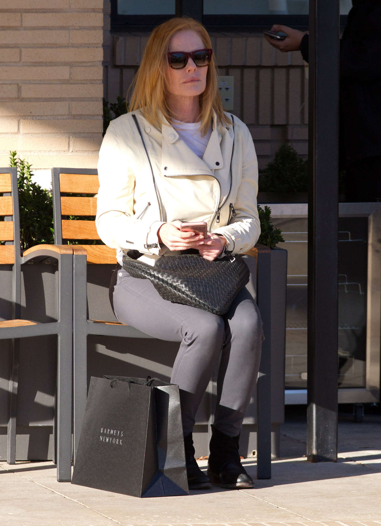 Marg helgenberger casual style shopping at splendid in santa monica new photo
