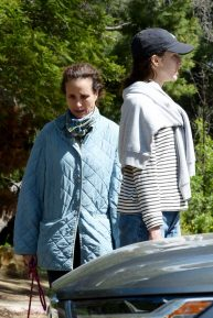 Margaret Qualley and Andie MacDowell - Out for a hike in Los Angeles
