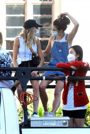 Margaret Qualley and Cara Delevingne and Kaia Gerber - Seen at BLM protest in Downtown LA