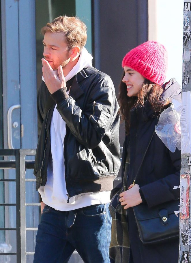 Margaret Qualley and Jamie Strachan out in New York City