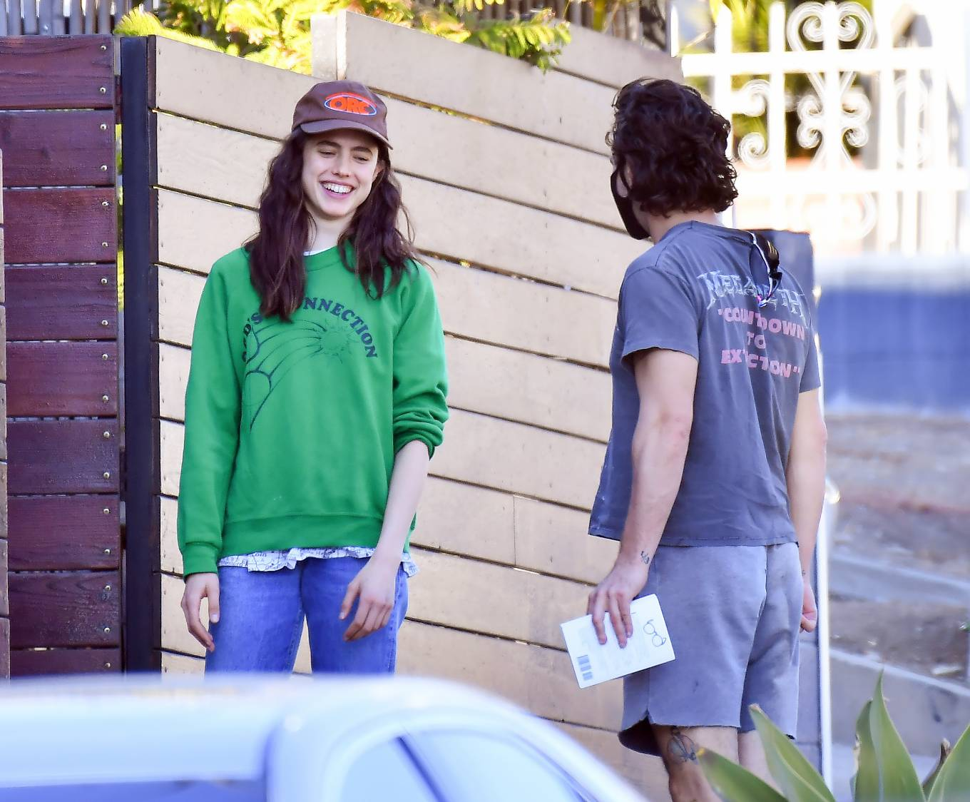 Margaret Qualley and Shia LaBeouf - Stop by a friend's house in Studio City