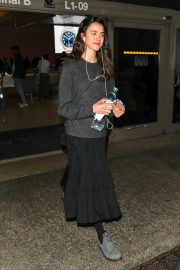 Margaret Qualley - Arrives at LAX airport in Los Angeles