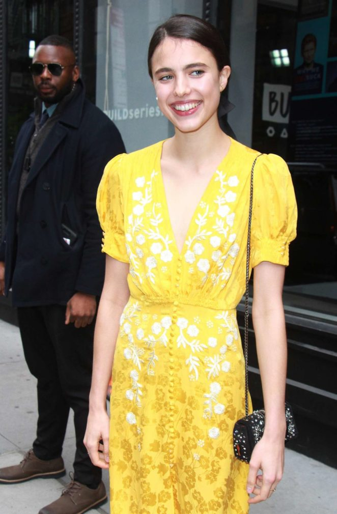 Margaret Qualley at AOL Build Series in New York