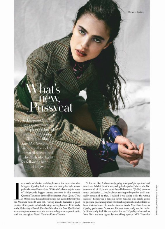 Margaret Qualley - Harper's Bazaar Australia Magazine (September 2019)