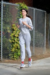 Margaret Qualley - Jog candids in Los Angeles