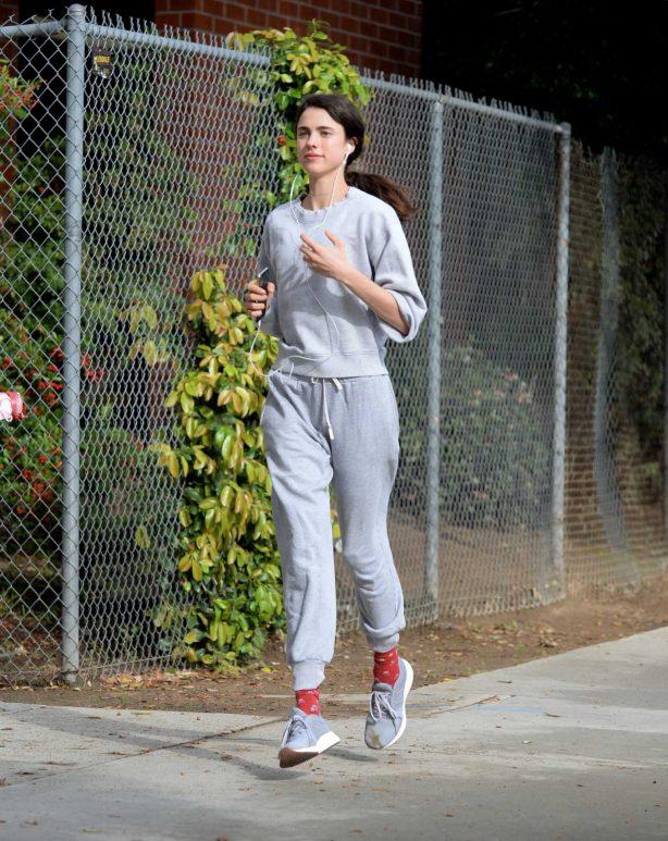 Margaret Qualley - Jog candids in Los Angeles