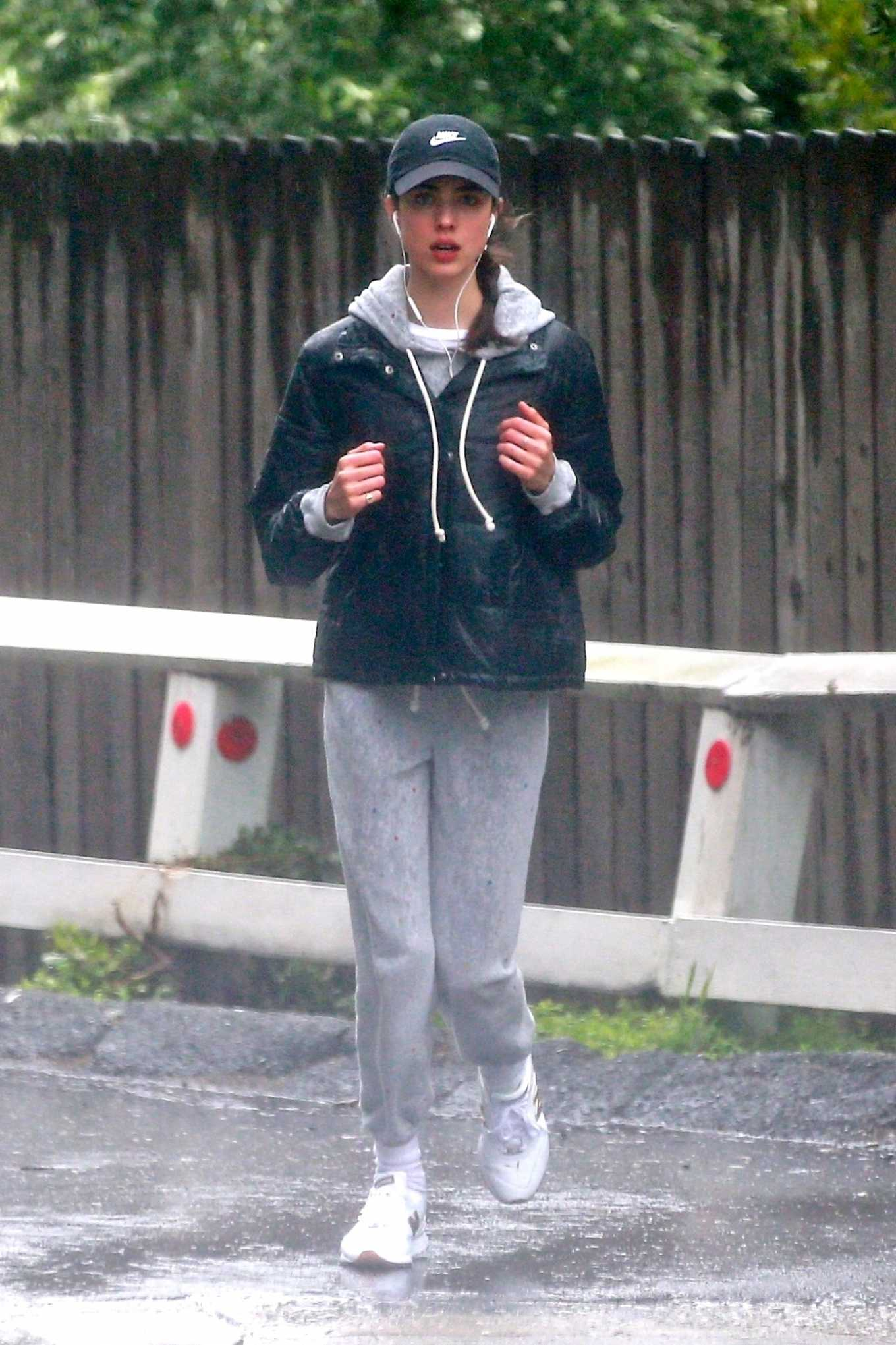 Margaret Qualley 2020 : Margaret Qualley – Jog on rain day-08