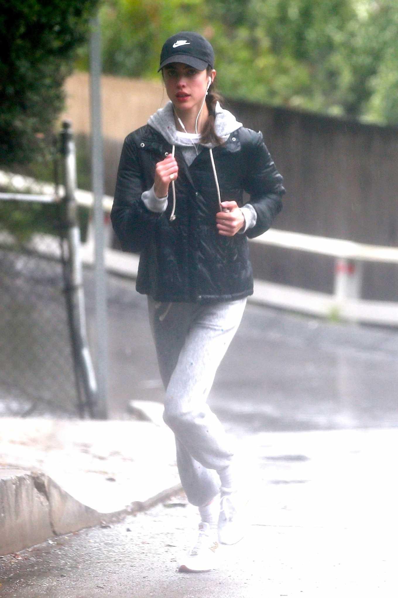 Margaret Qualley 2020 : Margaret Qualley – Jog on rain day-11