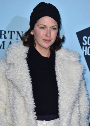 Margo Stilley - Skate at Somerset House Lunch Party in London