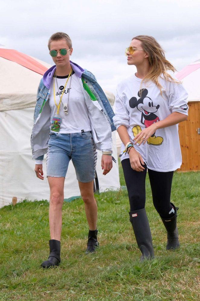 Margot Robbie and Cara Delevingne at Glastonbury Festival 2017 Day 2