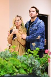 Margot Robbie and Tom Ackerley - Seen after leaving upscale Sushi Park restaurant in Los Angeles