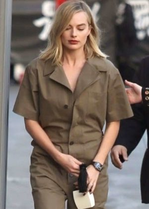 Margot Robbie - Arriving at Jimmy Kimmel Live! in LA