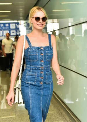 Margot Robbie at Beijing Capital International Airport in Beijing