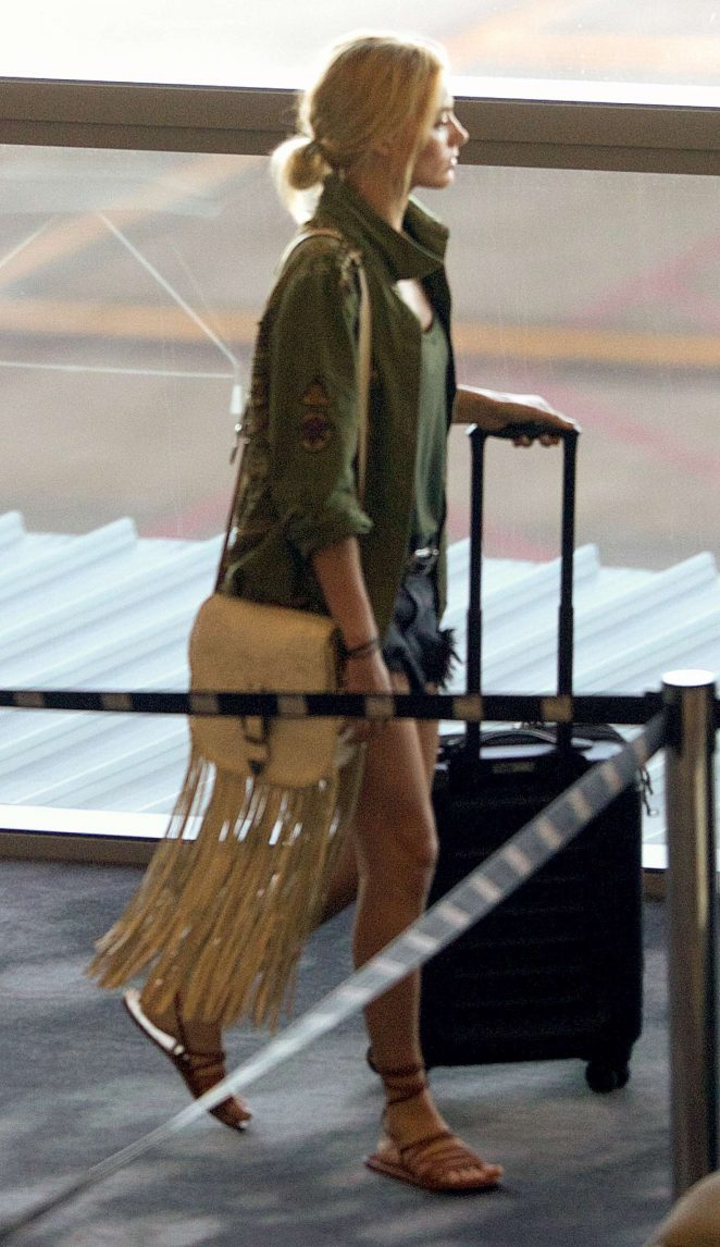 Margot Robbie at Brisbane Airport in Brisbane