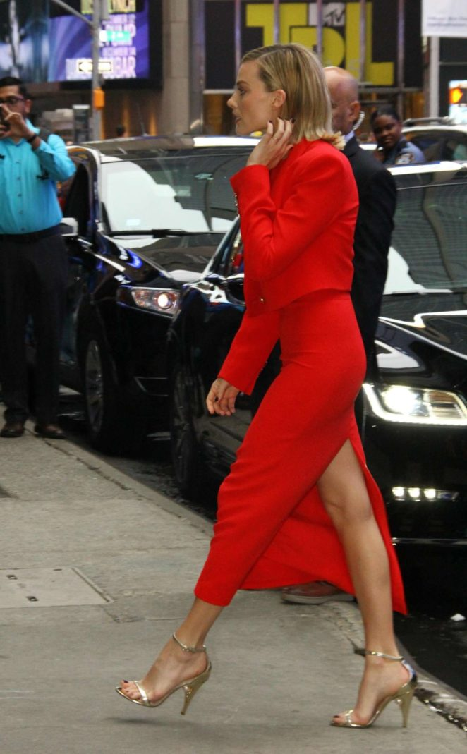 Margot Robbie at 'Good Morning America' in New York City