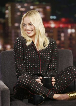 Margot Robbie at 'Jimmy Kimmel Live' in Los Angeles