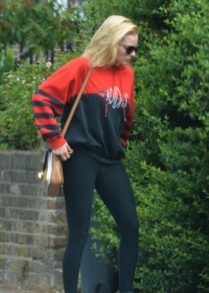 Margot Robbie in Tights Out in London