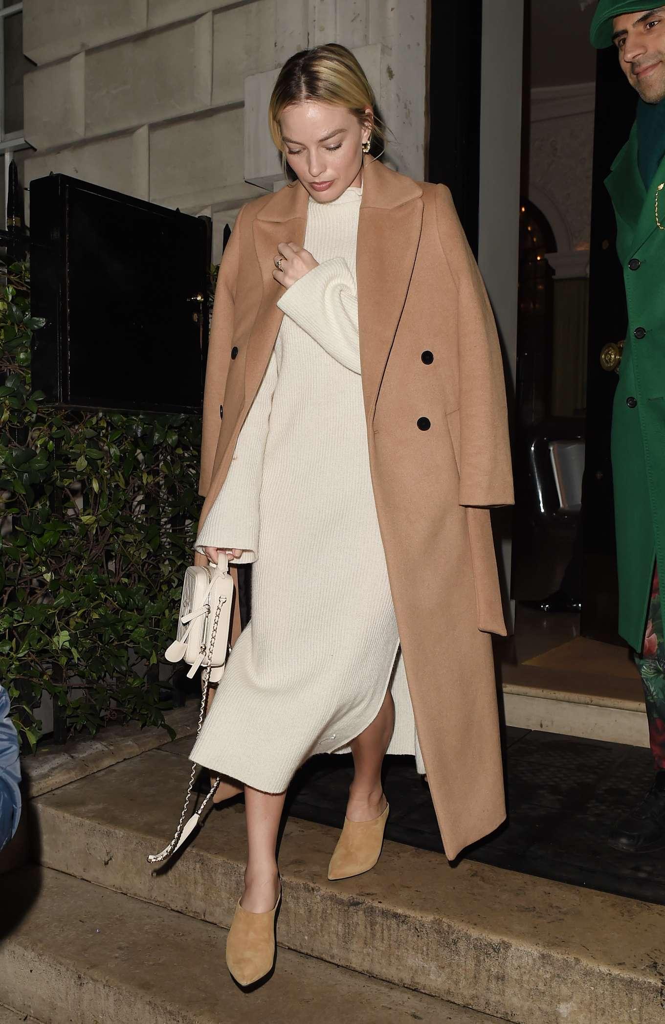 Margot Robbie - Leaving Annabel's Member's Club in Mayfair