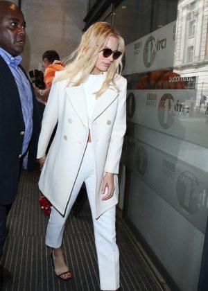 Margot Robbie Leaving BBC Radio Studios in London