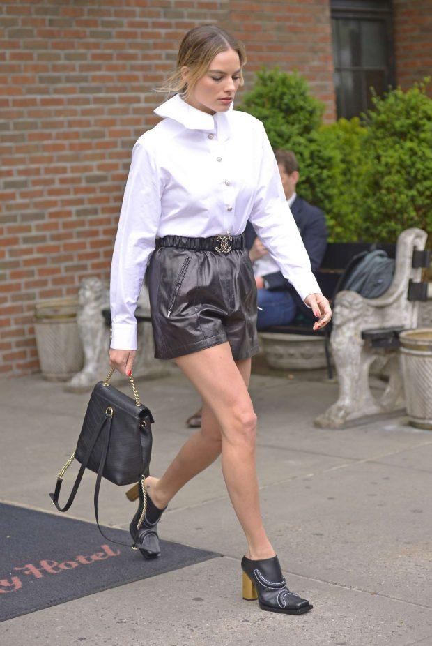 Margot Robbie: Leaving her hotel in New York City -03