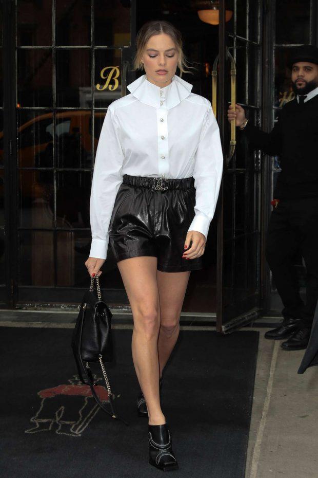 Margot Robbie: Leaving her hotel in New York City -05