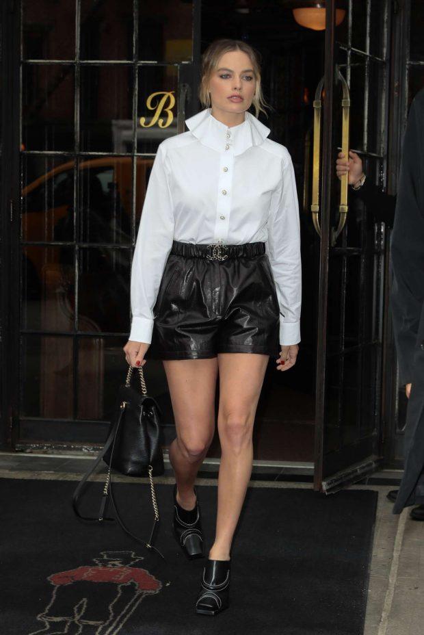 Margot Robbie: Leaving her hotel in New York City -08