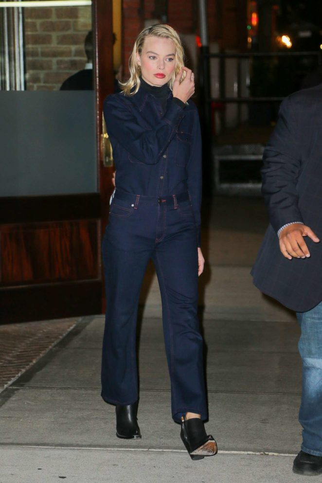 Margot Robbie - Leaving her hotel in New York