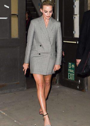 Margot Robbie - Leaving the Calvin Klein Fashion show in New York