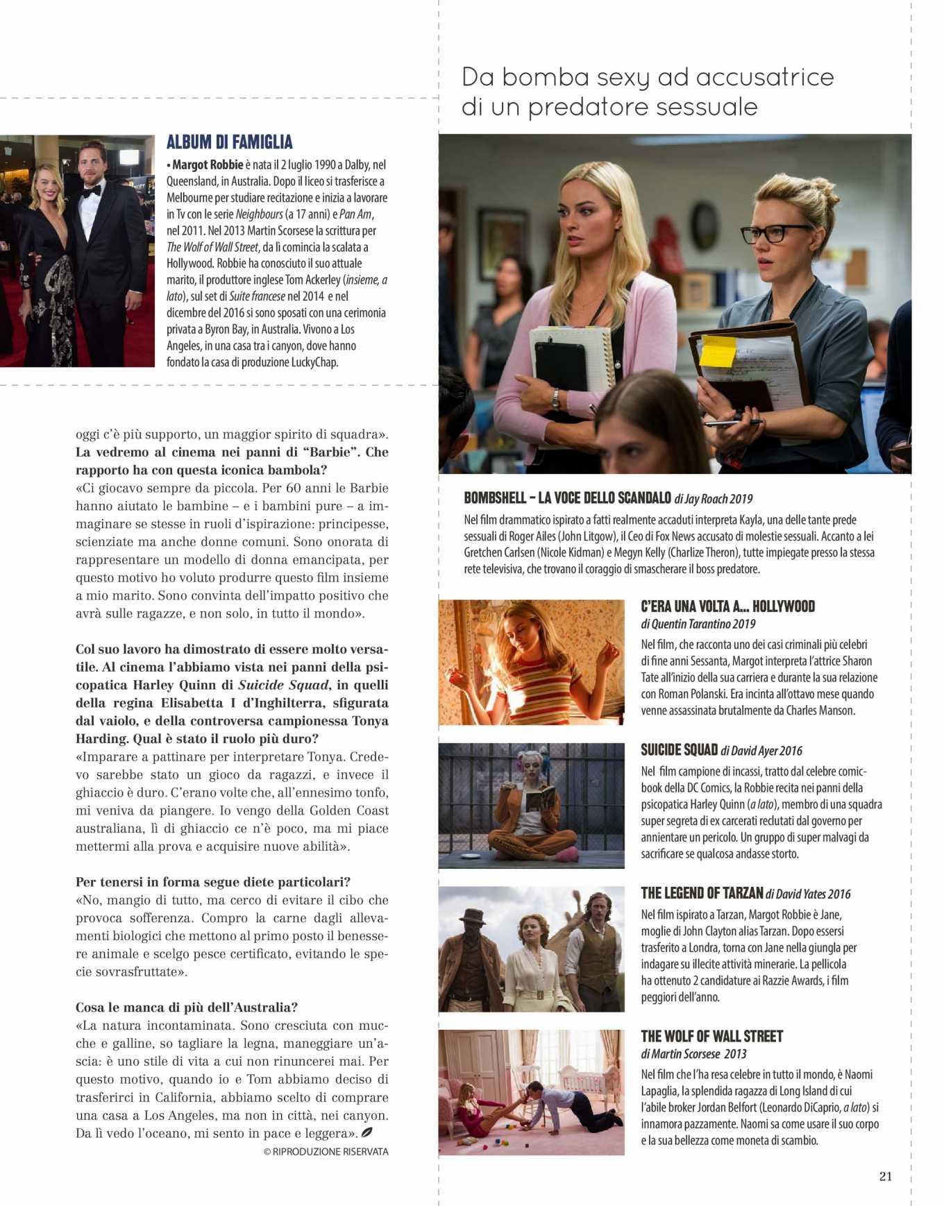 Margot Robbie 2020 : Margot Robbie – Natural Style Italy Magazine 2020-01