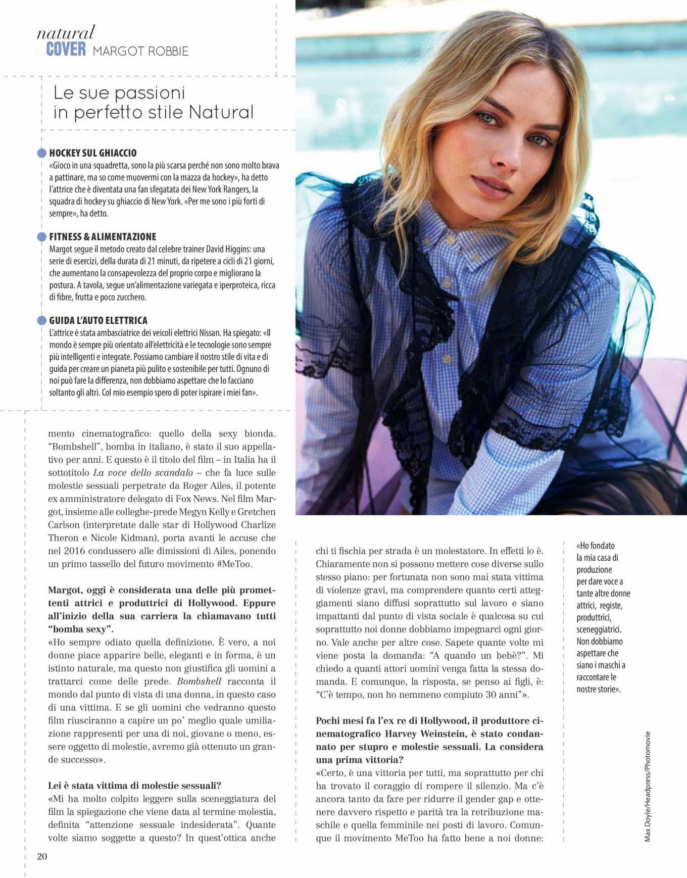 Margot Robbie 2020 : Margot Robbie – Natural Style Italy Magazine 2020-02