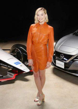 Margot Robbie - Nissan Formula E launch tour in Culver City
